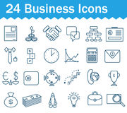 Thin line business icons set. Outline icon Royalty Free Stock Image