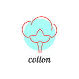 Thin line cotton icon Royalty Free Stock Photography