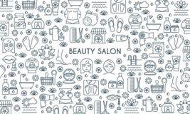 Thin line design beauty banner Stock Photos