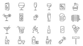 Drinks vector icon set vector illustration