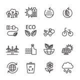 Thin line ecology icon set 7, vector eps10 Stock Image