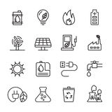 Thin line ecology icon set 6, vector eps10 Stock Image