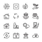 Thin line ecology icon set 8, vector eps10 Stock Photography
