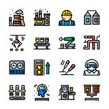 Thin line Factory icons set, vector illustration Stock Photo
