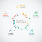 Thin line flat circle for infographic. royalty free illustration