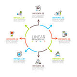 Thin line flat element for infographic. Royalty Free Stock Photos