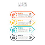 Thin line flat element for infographic. Royalty Free Stock Photography