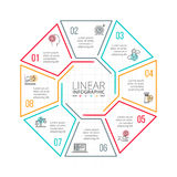 Thin line flat element for infographic. Royalty Free Stock Images