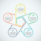 Thin line flat elements for infographic. Stock Images
