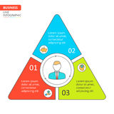 Thin line flat triangle for infographic. royalty free illustration