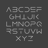 Thin line font Stock Photo