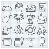 Thin line food and drink icons set Royalty Free Stock Photo