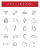 Thin line food icons set. Stock Images