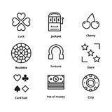 9 Gamble Line Icon royalty free illustration