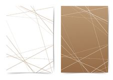 Free Thin Line Geometrical Pattern Folder Cover Template Royalty Free Stock Photos - 102794448