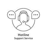 Thin line hotline icon Stock Photos