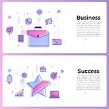 "Thin line icon layout design flat design concept """". Vector. Illustrate Royalty Free Stock Image"