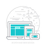Thin line icon. Responsive web design Royalty Free Stock Image