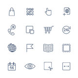 Thin line icon set. Icons for web, apps, programs and other Stock Photo