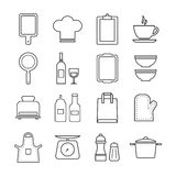 Thin line icon set kitchen and cooking Royalty Free Stock Image