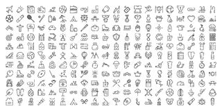 Thin line icon set. vector illustration