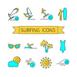 Thin line icon set for web Royalty Free Stock Photography