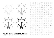Thin Line Icons Royalty Free Stock Photo