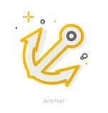Thin line icons, Anchor Stock Photos