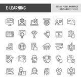 E-learning Vector Icon Set vector illustration