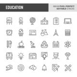 Education Vector Icon Set royalty free illustration