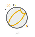Thin line icons, Ball Stock Image
