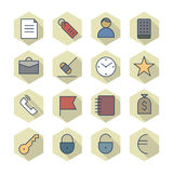 Thin Line Icons For Business and Finance Stock Image