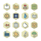 Thin Line Icons For Business and Finance Stock Images