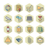 Thin Line Icons For Business and Finance Royalty Free Stock Image
