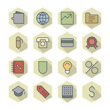 Thin Line Icons For Business and Finance Royalty Free Stock Photos