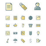 Thin line icons for business, finance and banking Stock Images