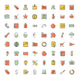 Thin line icons for business, finance and banking. Vector illustration Royalty Free Stock Image