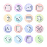 Thin Line Icons For Business and Finance Royalty Free Stock Photography