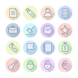 Thin Line Icons For Business and Finance Stock Photography