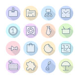 Thin Line Icons For Business and Finance. Vector eps10 Stock Images