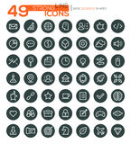 Thin Line Icons For Business, Interface, Leisure and Food. Vector eps10. Set of 49 thin line vector icons for business, web design, presentations, seo, e Royalty Free Illustration