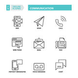 Thin line icons. Communication Stock Images