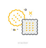 Thin line icons, Cracker Stock Images
