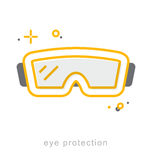 Thin line icons, Eye protection Royalty Free Stock Images