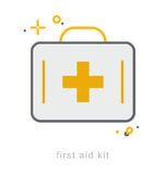 Thin line icons, First aid kit. Thin line icons, Linear symbols, First aid kit Royalty Free Stock Image