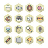 Thin Line Icons For Food Royalty Free Stock Photo