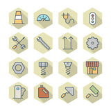 Thin Line Icons For Industrial Stock Images