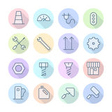 Thin Line Icons For Industrial Royalty Free Stock Images