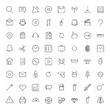 Thin Line Icons For Interface Stock Photo