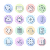 Thin Line Icons For Interface Royalty Free Stock Photography